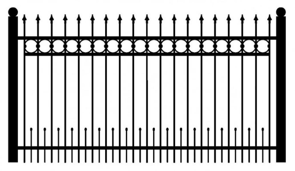 Model ogrodzenia 11
