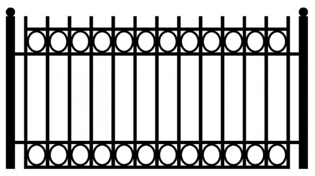 Model ogrodzenia 12