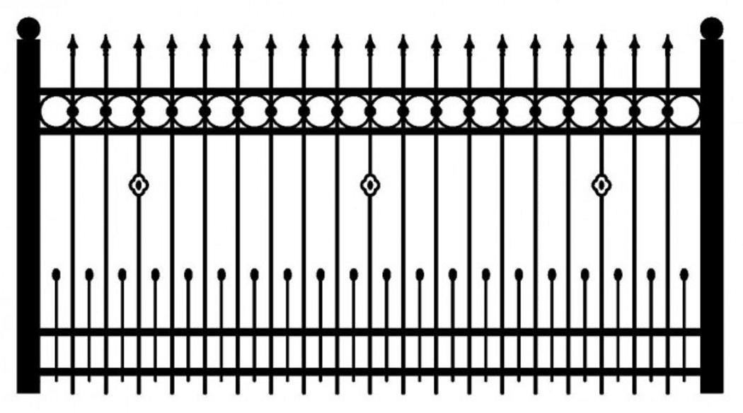 Model ogrodzenia 2
