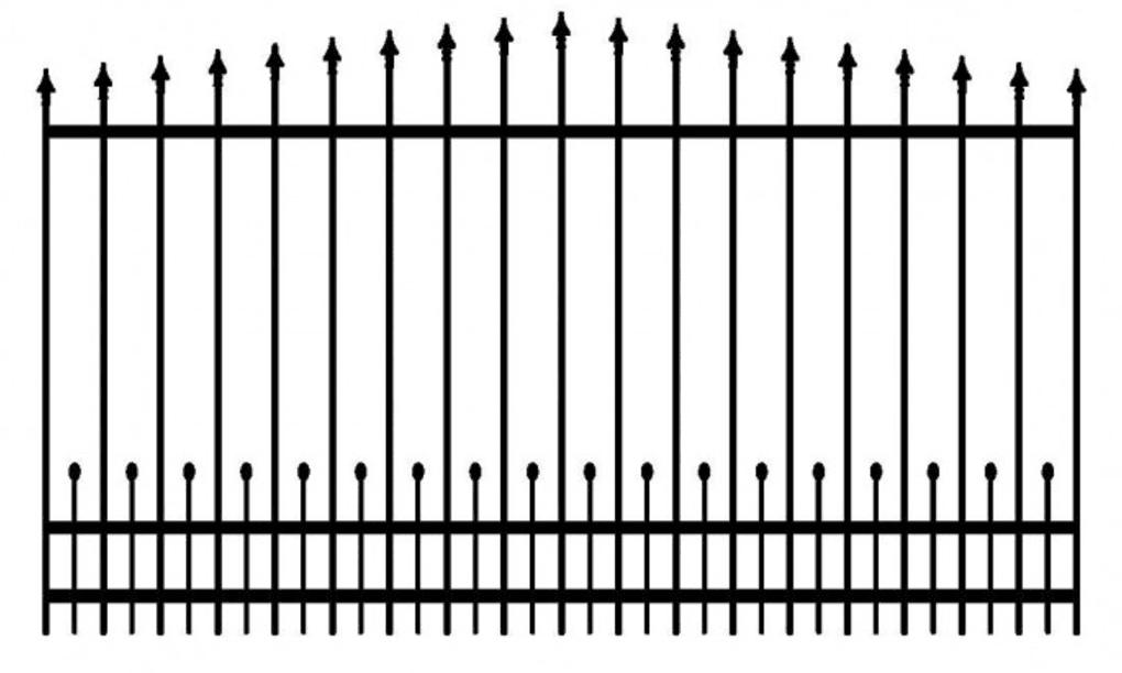 Model ogrodzenia 7
