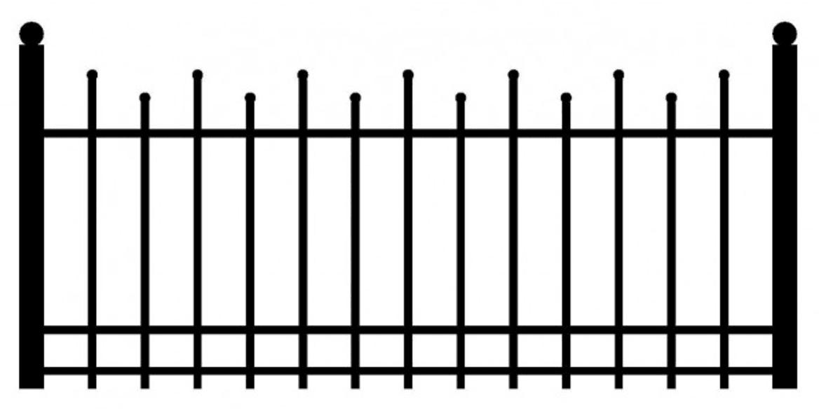 Model ogrodzenia 8
