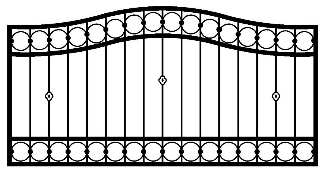 Model ogrodzenia 9