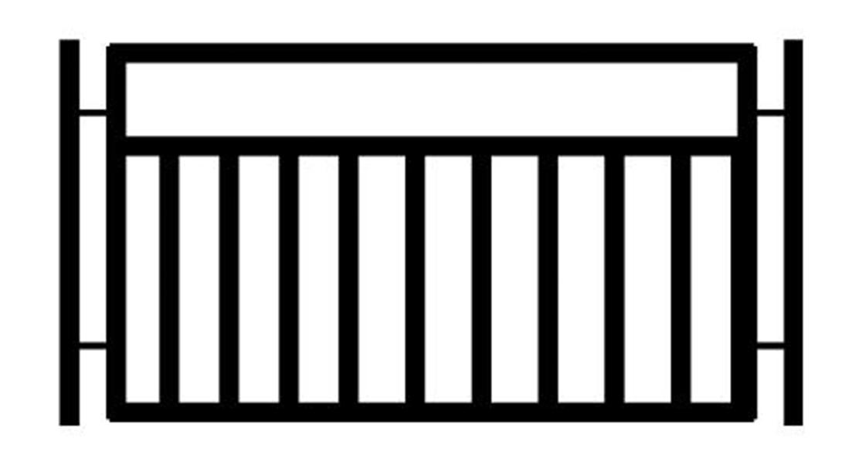 Model ogrodzenia 13