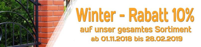 Metallzäune und Schmiedezäune - Winter Rabatt