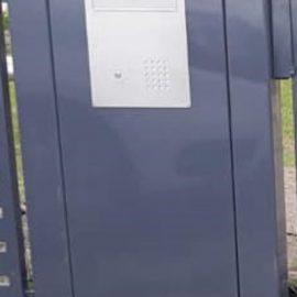 1. Briefkasten mit Gegensprechalnlage WPN 20MR2 in Aluminiumlsäule